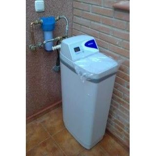 Domestic water softener installation
